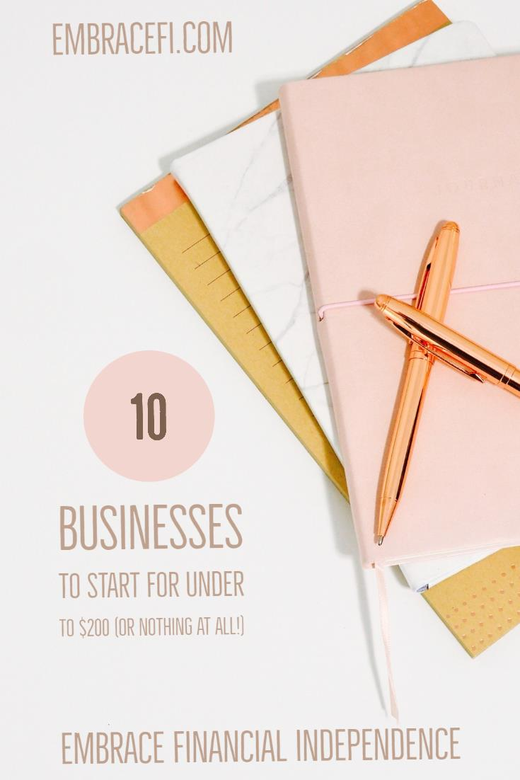 business you can start for under 200